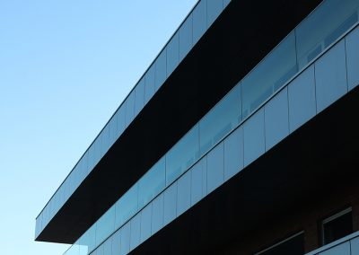 Balkon reling glas